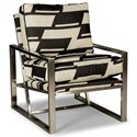 Rachael Ray Home by Craftmaster Highline Modern Upholstered Chair with Metal Frame - Shown in alternate fabric