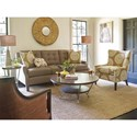Rachael Ray Home by Craftmaster R7607 Sofa with Biscuit Button Tufting and Scooped Arms