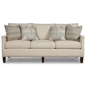 Rachael Ray Home by Craftmaster Upstate Sofa w/ Pewter Nailheads