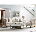Rachael Ray Home by Craftmaster Upstate Saratoga Sofa with Nailheads