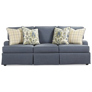 Rachael Ray Home by Craftmaster R9601 Skirted Sofa