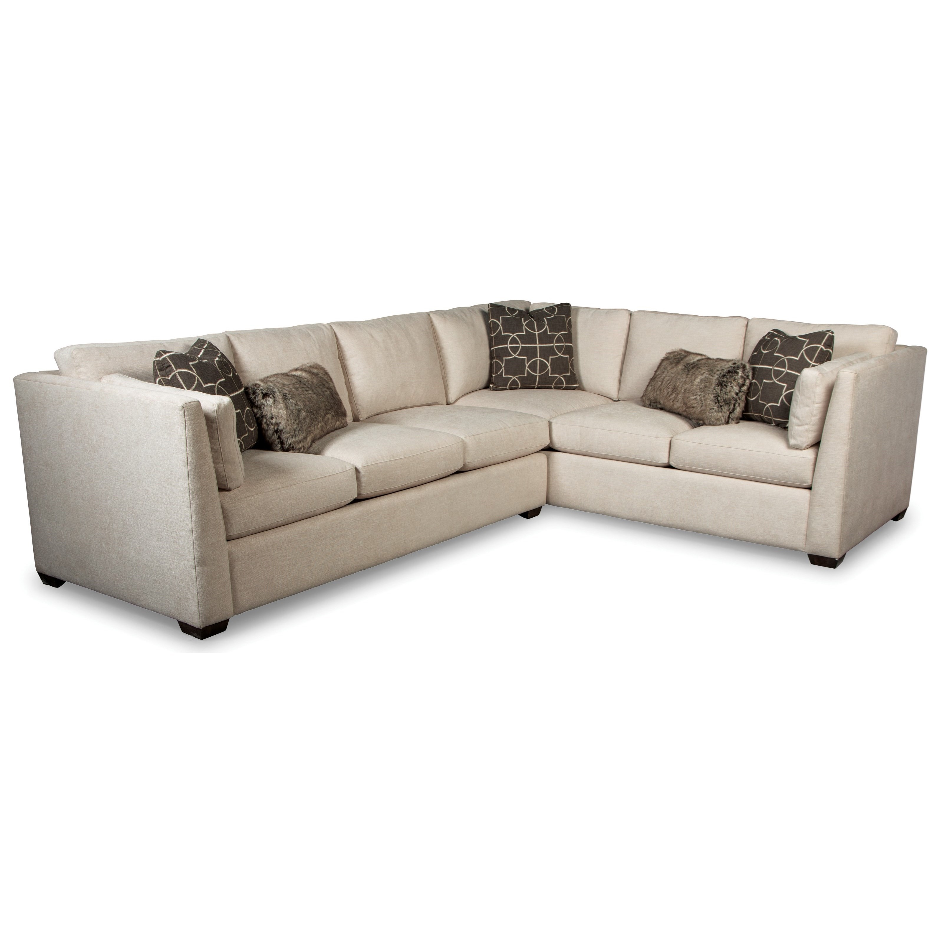 Rachael Ray Home By Craftmaster Rr760100 Contemporary Two Piece Sectional Sofa With Raf Corner