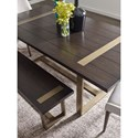 Rachael Ray Home by Legacy Classic Austin Contemporary Rectangular Dining Table w/ Brass Finished Wood Accents