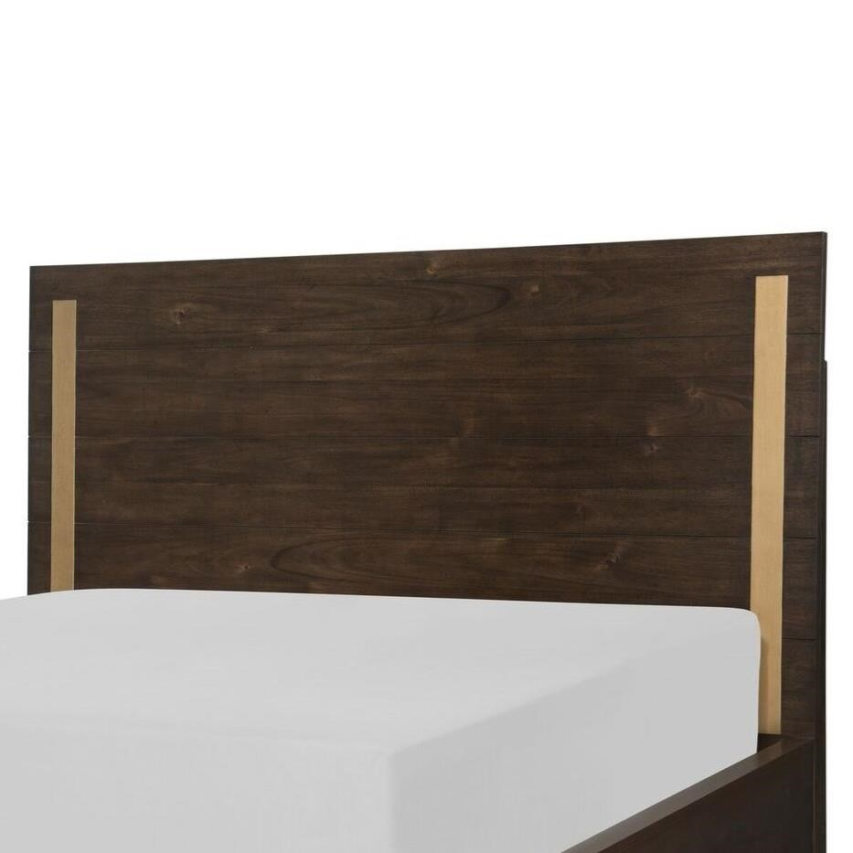 Queen Panel Headboard with Brass