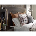 Rachael Ray Home by Legacy Classic Austin Contemporary Queen Panel Bed w/ Brass Finish Wood Accents & Storage Footboard