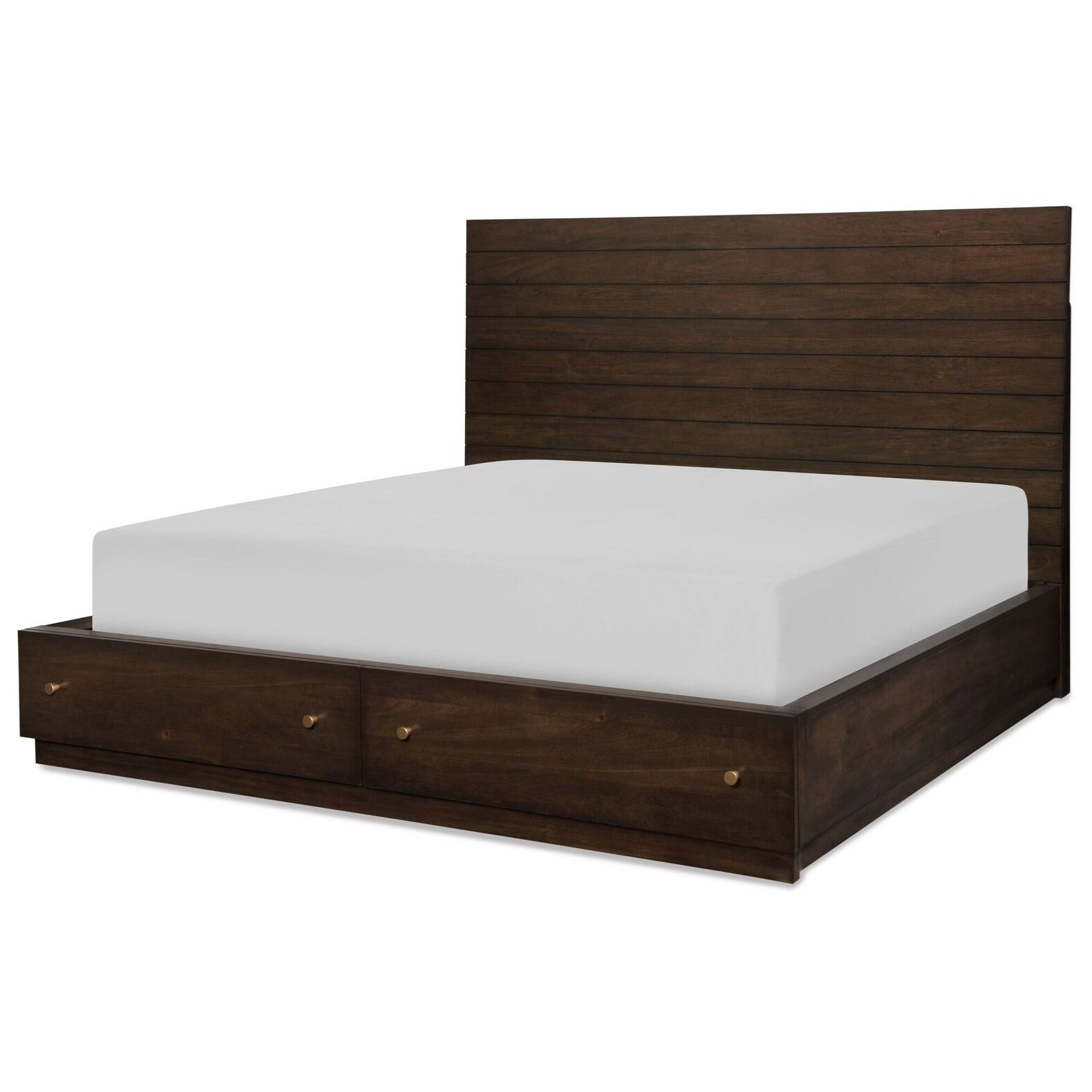 CA King Panel Bed w/ Storage Footboard