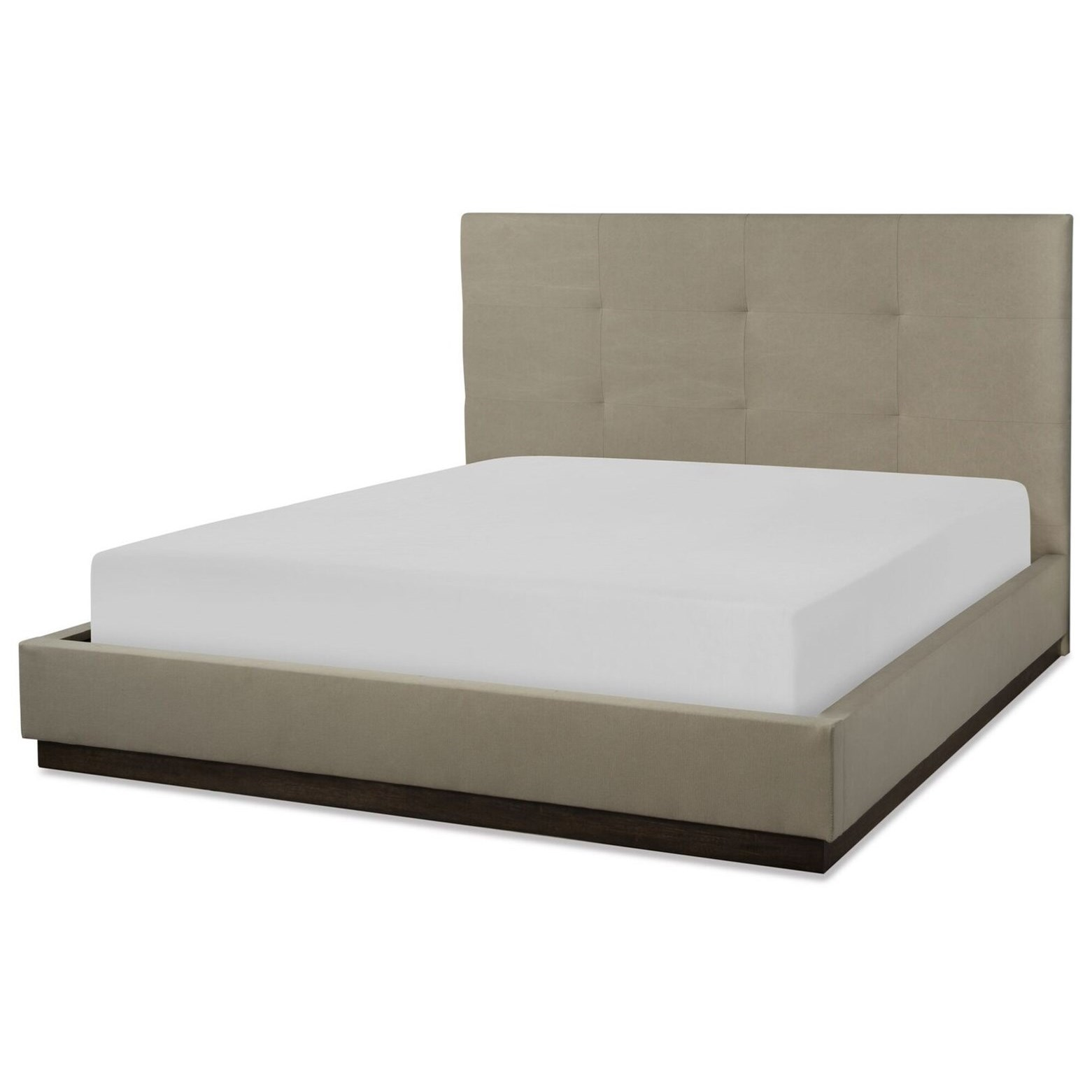 CA King Upholstered Wall Bed