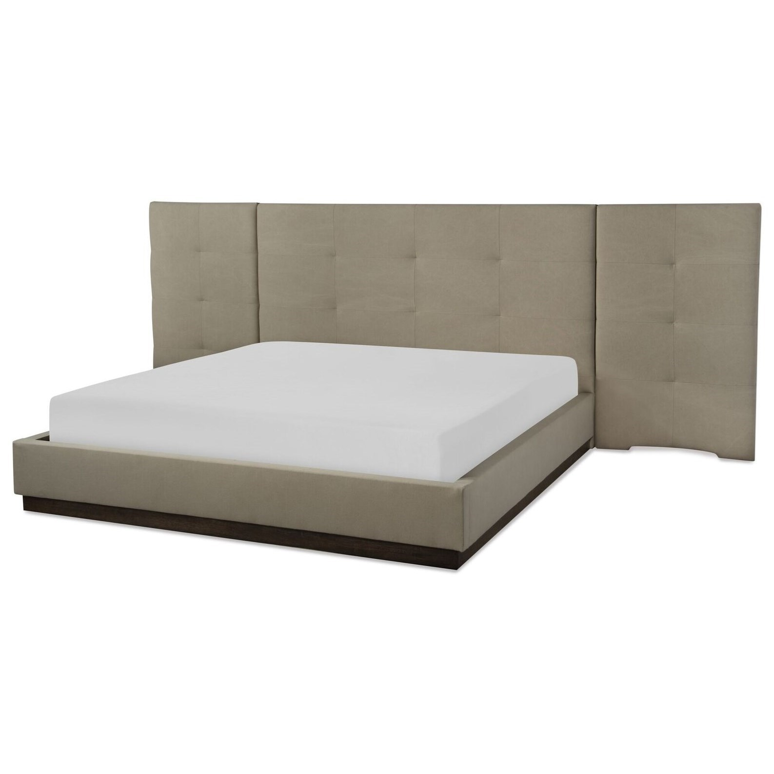 CA King Upholstered Wall Bed w/ Panels