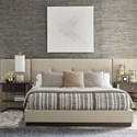 Rachael Ray Home by Legacy Classic Austin Contemporary California King Upholstered Wall Bed with Panels