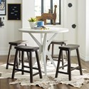 Rachael Ray Home by Legacy Classic Austin Pub Table and Chair Set - Item Number: 8100-920+4x946