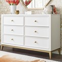Rachael Ray Home by Legacy Classic Chelsea 6 Drawer Dresser with Gold Accents