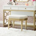 Rachael Ray Home by Legacy Classic Chelsea Vanity Stool with Upholstered Seat