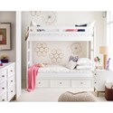 Rachael Ray Home by Legacy Classic Chelsea Twin-Over-Twin Bunk Bed with Built in Ladder - Underbed Storage Sold Separately