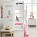 Rachael Ray Home by Legacy Classic Chelsea Twin-Over-Twin Bunk Bed with Built in Ladder