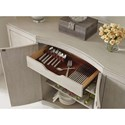 Rachael Ray Home by Legacy Classic Cinema Four Door Credenza With Wine Storage.