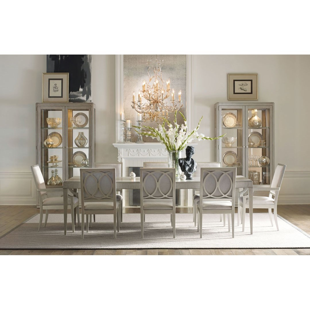 Rachael Ray Home By Legacy Classic Cinema 7200 222 2x141 Kd 6x140 Kd Table And Chair Set Baer S Furniture Dining 7 Or More Piece Sets