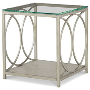 Rachael Ray Home by Legacy Classic Cinema Glass Top End Table