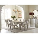 Rachael Ray Home by Legacy Classic Cinema Oval Table and Upholstered Chair Set - Item Number: 7200-621K+2x141 KD+4x140 KD