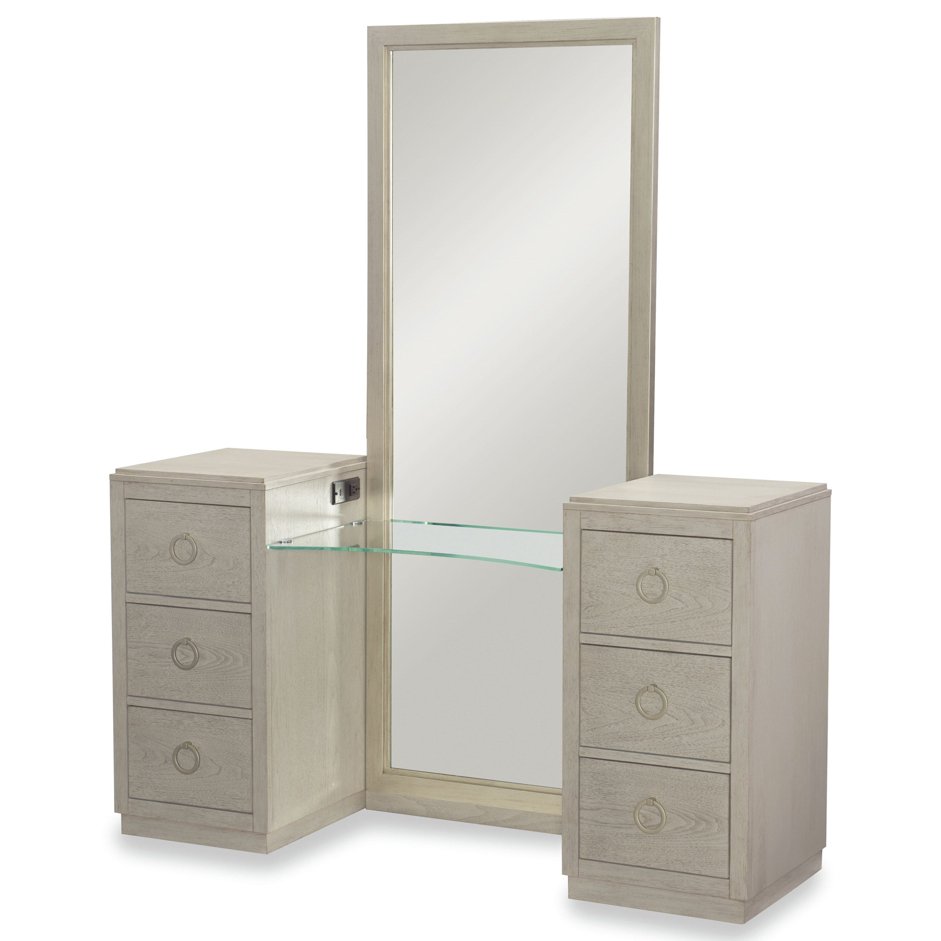 Rachael Ray Home by Legacy Classic Cinema Vanity with Mirror - Item Number: 7200-7400K