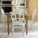 Rachael Ray Home by Legacy Classic Everyday Dining Dining Table And 4 Oval Back Chairs  - Item Number: 7002-321+4x7003-140 KD