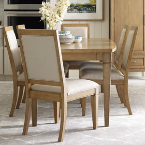 Rachael Ray Home by Legacy Classic Everyday Dining Table and 6 Upholstered Chairs