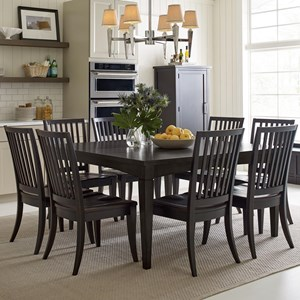 Rachael Ray Home by Legacy Classic Everyday Dining Leg Table And 8 Chairs