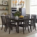 Rachael Ray Home by Legacy Classic Everyday Dining Leg Table And 8 Chairs - Item Number: 7003-221+8x240
