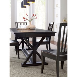 Rachael Ray Home by Legacy Classic Everyday Dining Trestle Table And 4 Side Chairs