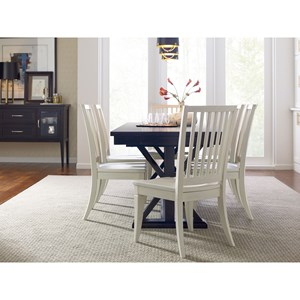 Rachael Ray Home by Legacy Classic Everyday Dining Dining Table And 6 Slat Back Chairs