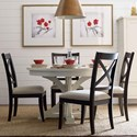 Rachael Ray Home by Legacy Classic Rachael Round To Oval Dining Table And 4 Chairs - Item Number: 7004-521K+4x7003-440 KD