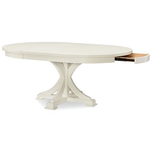 Rachael Ray Home by Legacy Classic Everyday Dining Round to Oval Pedestal Table