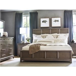 Rachael Ray Home by Legacy Classic High Line King Panel Bed, Dresser, Mirror & Nightstand