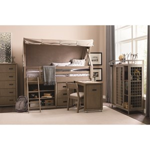 Rachael Ray Home by Legacy Classic Hudson Twin Mid Loft Bedroom Group