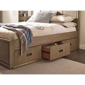 Rachael Ray Home by Legacy Classic Hudson Full Panel Bed with Storage Drawers