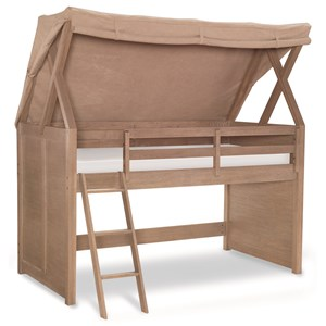 Rachael Ray Home by Legacy Classic Hudson Twin Loft Bed With Tent