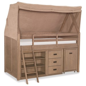 Rachael Ray Home by Legacy Classic Hudson Twin Mid-Loft Bed with Tent