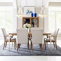 Rachael Ray Home by Legacy Classic Hygge  7 Piece Rectangular Table Set - Item Number: 7600-221+2x141KD+4x140KD