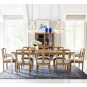Rachael Ray Home by Legacy Classic Hygge  9 Piece Rectangular Table Set - Item Number: 7600-221+2x241KD+6x240KD