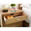 Rachael Ray Home by Legacy Classic Hygge  Contemporary 3 Drawer Night Stand with Outlet and USB Port