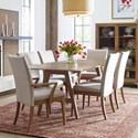 Rachael Ray Home by Legacy Classic Hygge  7 Piece Trestle Table Set - Item Number: 7600-620+2x141KD+4x140KD