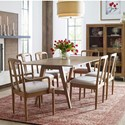 Rachael Ray Home by Legacy Classic Hygge  7 Piece Trestle Table Set - Item Number: 7600-620+2x241KD+4x240KD