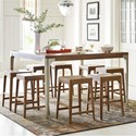 Rachael Ray Home by Legacy Classic Hygge  9 Piece Pub Dining Set - Item Number: 7600-920+8x946 KD