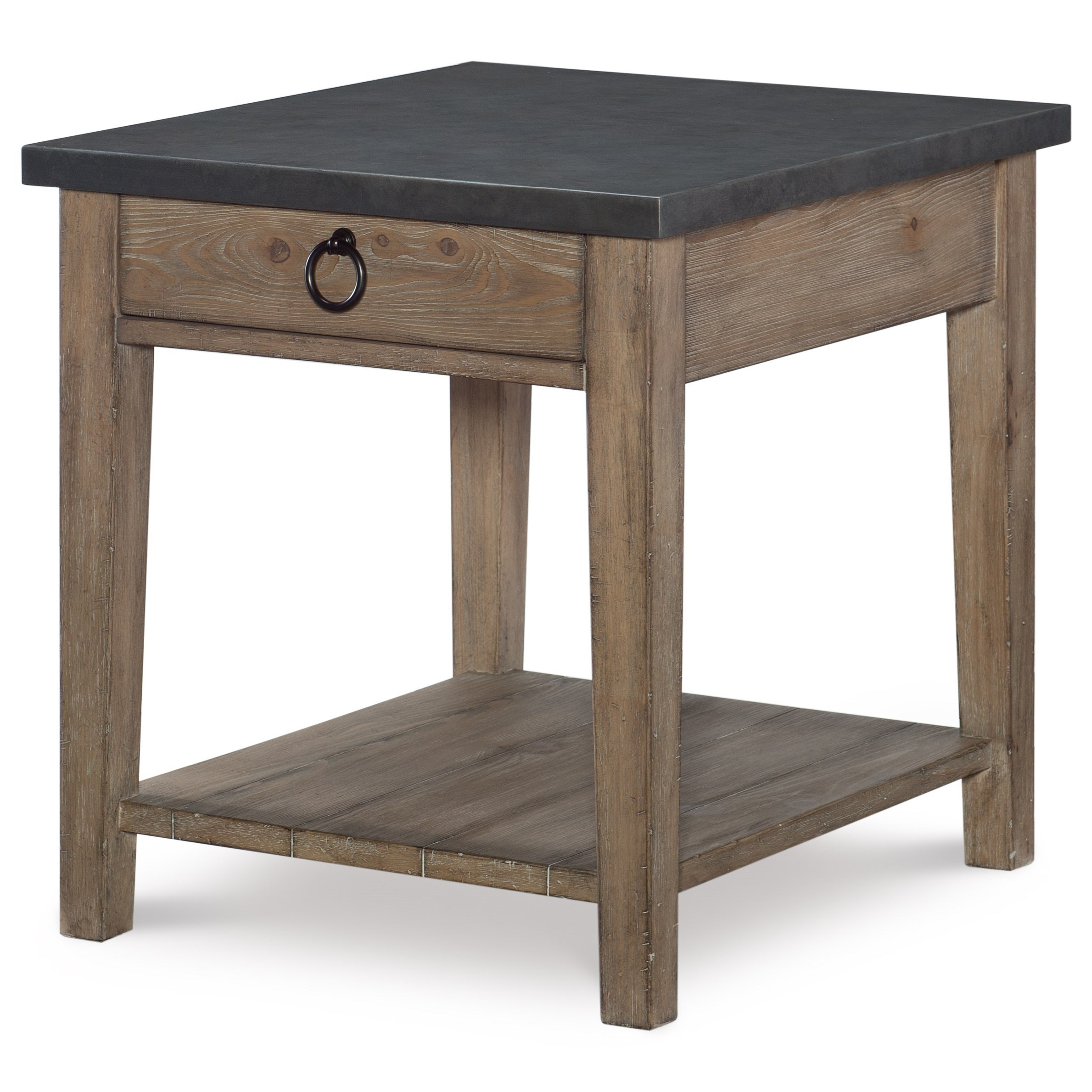 Metal Top End Table