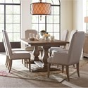 Rachael Ray Home by Legacy Classic Monteverdi  7 Piece Rectangular Table Set - Item Number: 7500-622K+2x451KD+4x450KD