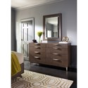 Rachael Ray Home by Legacy Classic Soho Mid-Century Modern Eight Drawer Dresser with Mirror