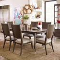 Rachael Ray Home by Legacy Classic Soho 7 Piece Table and Chair Set - Item Number: 6020-221+6x240 KD