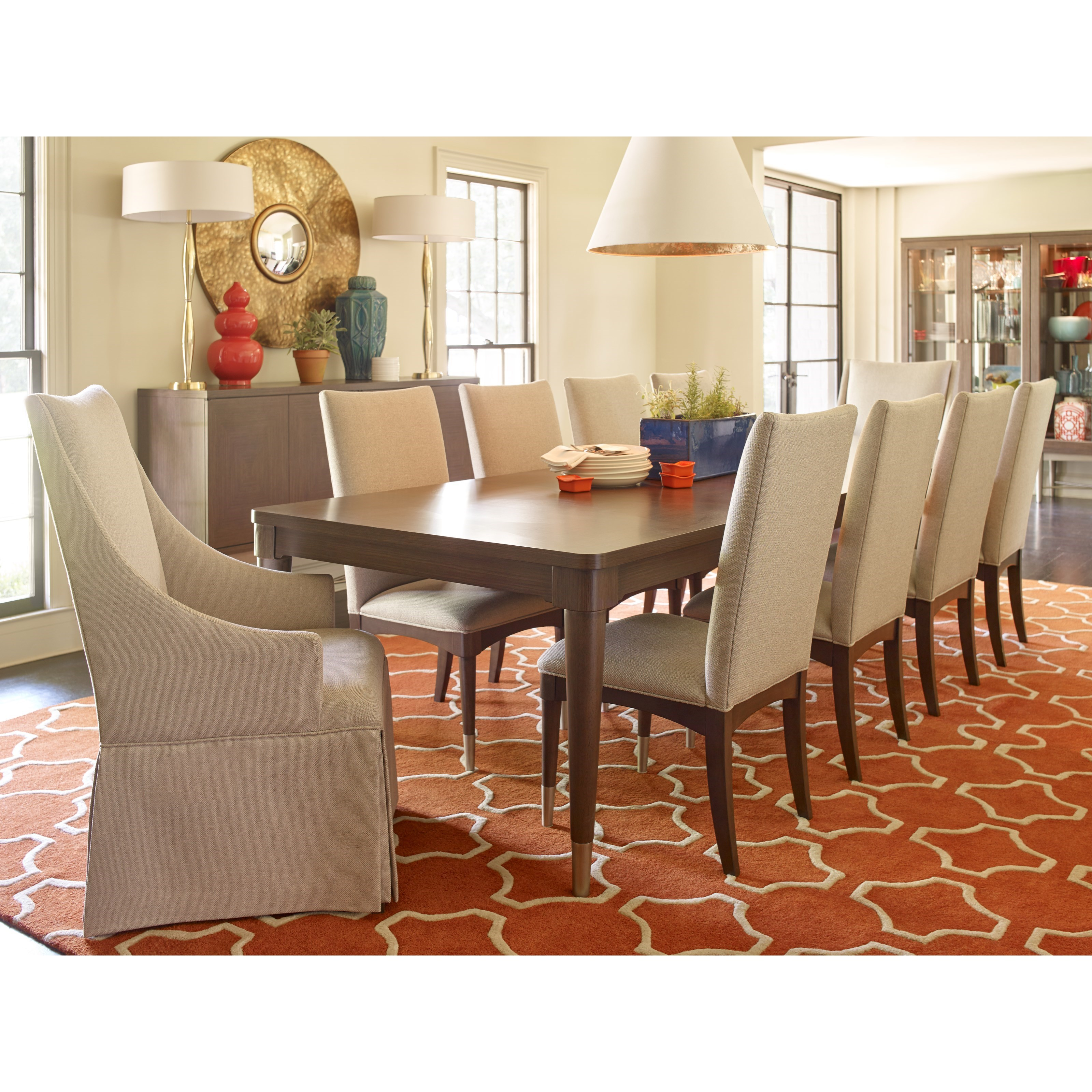Rachael Ray Home by Legacy Classic Soho 11 Piece Dining Set - Item Number: 6020-223+2x451 KD+8x140 KD