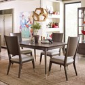 Rachael Ray Home by Legacy Classic Soho 5 Piece Table and Chair Set - Item Number: 6020-509+4x240 KD