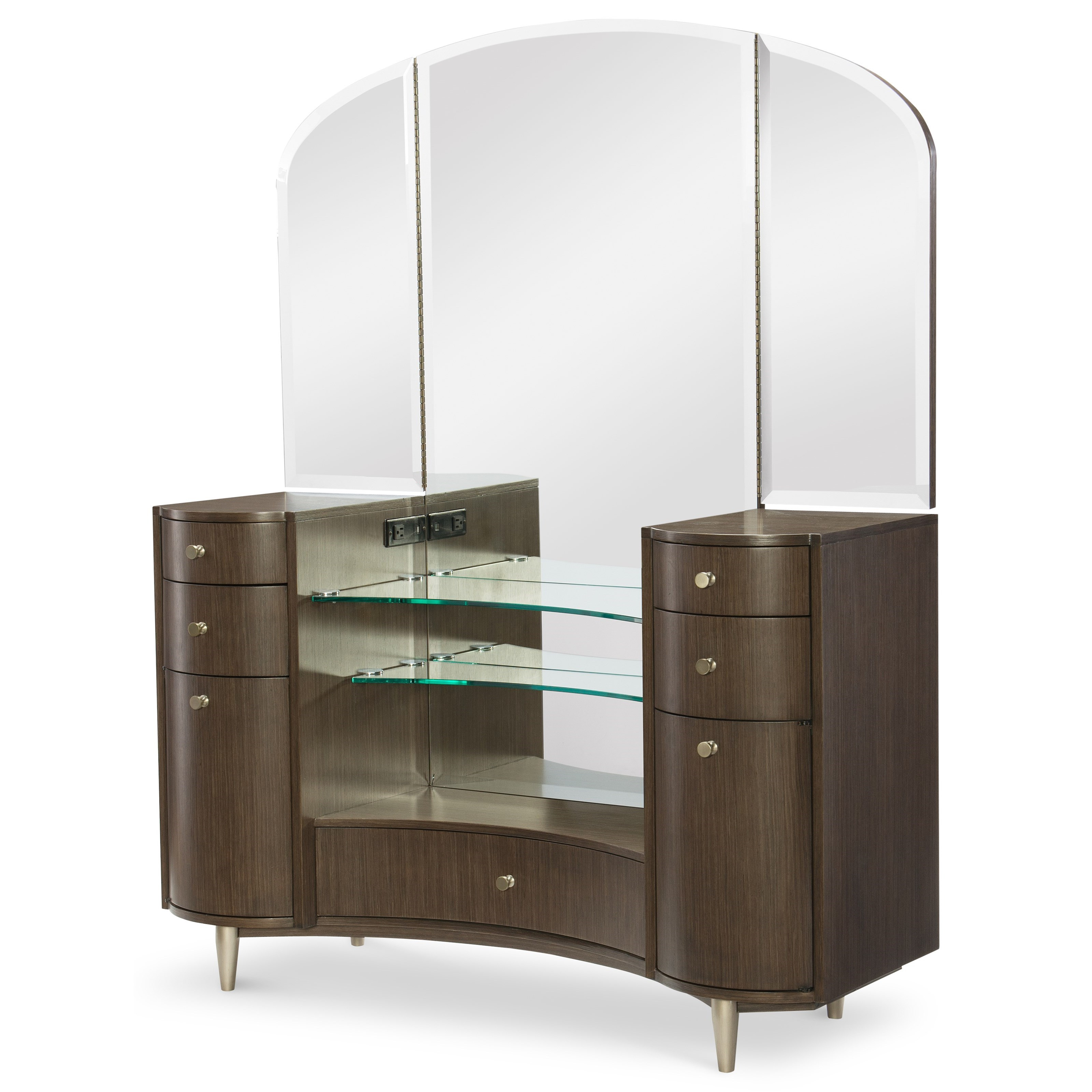 Rachael Ray Home by Legacy Classic Soho Vanity Desk with Mirror - Item Number: 6020-7400+0700