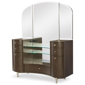 Rachael Ray Home by Legacy Classic Soho Vanity Desk with Mirror